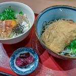 蕎麦酒房 天 - 日替り(たぬきそば、玉子かけごはん)