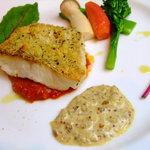 ビストロ K - 真鱈の香草パン粉焼き  シャンパン風味のタルタルソースを添えて