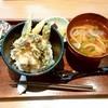 カフェソラーレ ツムギ - 料理写真:cafe solare Tsumugi ジョイナステラス@二俣川店 鱧と夏野菜のかき揚げ天丼とライムの冷やしうどん(1512円)
