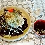 あおい食堂 - 料理写真:あおい食堂@糸魚川 ブラック焼そば・大盛り(800円+100円)