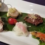 ホテルオークラレストラン三鷹 チャイニーズガーデン 桃亭 - ある日の前菜盛り合わせ(一人前)