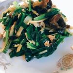 中華料理 香新 - 肉とニラ炒め