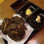 沖縄美食BAR うみんちゅぬ やまんちゅぬ - 沖縄もずくの天ぷら 580円