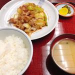 寿楽 - 料理写真:肉の甘から定食