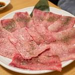 炭焼 金竜山 - ☆上タン(塩)3200円×3