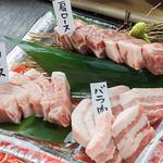 鶏焼 やみつき - 山梨のブランド豚の富士桜ポーク3点盛り!!
