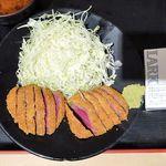 牛カツ京都勝牛 - 厚切り牛かつ膳(大盛)1,480円(税込1,598円)