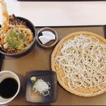 100388845 - 天丼セット 冷たい蕎麦選択 1300円