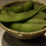 sumibiyakiyuuji - お通しの枝豆さん