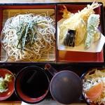 そば処 そば福 - 料理写真:天ざるそば1,300円