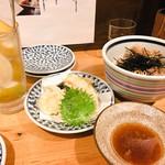 手打蕎麦 ちりん - 天ぷら盛合せと1月限定の肉蕎麦