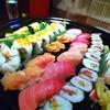 高砂寿司 - 料理写真:特上握り&細巻2人前。全景。