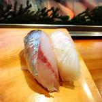 さとみ寿司 - アジにタイ