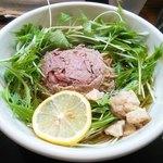 松阪牛麺 - お出汁投入後