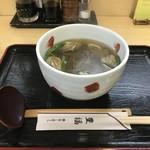 豊福 - 今回は、カキそば700円をいただきました(2019.1.20)