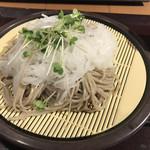 花園蕎麦 - 大根蕎麦ザル
