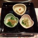 櫻宴 - 料理写真:前菜三種