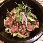 Cafe レスト 花×華 - 石焼きステーキ丼スモール