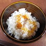 神戸ハンバーグウエスト - ビーフの肉汁をかけたたまごかけご飯