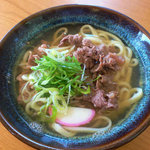 阿龍門 - 料理写真:当店1押しの赤牛肉うどんになります!
