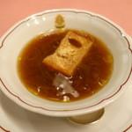ピッツェリア・サバティーニ - オニオングラタンスープ