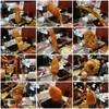 ひげ勝 - 料理写真:左上から串カツ、蟹爪、アスパラ、イカ、海老、レンコン 穴子、カキフライ、しいたけ、鳥ネギ、山芋、キス 12串です