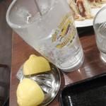 リンガーハット - 生絞りレモンサワー 半個×2がいーネ^^