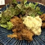 峠の玄氣屋 グングンカフェ - チキン南蛮は「鶏肉」も柔らかく、甘酢も浸みていて美味しい。タルタルソースもタップリ。