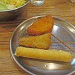 串カツ田中 - チーズ、レバかつ、玉ねぎ