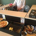ホテルセイリュウ - 「だし巻き卵玉子」と「薩摩揚げ」のコーナー