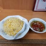 100434618 - 玉子チャーハン(塩味)とスープ