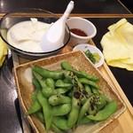 100435786 - 炙り枝豆+とろ豆腐