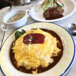 キッチンなかむら - 料理写真:なかむら風のオムライスコンビ1580円・大盛り100円・チーズトッピング50円  計1730円