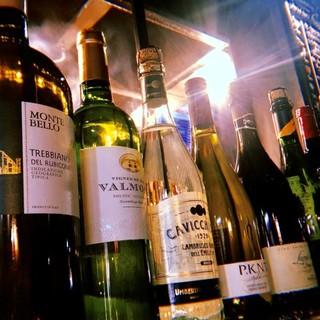 10種以上のワイン等をご用意してお待ちしております。