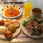 S.colina - 芽キャベツと蒸鶏のトマトクリームパスタ1450円&セットバイキング