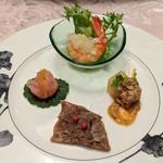 中国料理 王宮 - 季節の前菜4種盛り合わせ
