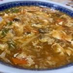 華香楼 - 酢辣麺(豆腐入りとろみ辛味そば)