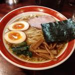 麺処 懐や - しょうゆ(平打)+味玉