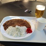 上野グリーンサロン - 2019/1/18 ビーフカレー、グラスビール