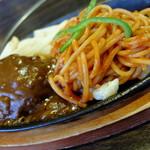 """肉の万世 - """"ハンバーグ&ナポリタン/120g"""""""