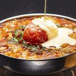 博多あじ処 はす屋 - イタリアンなトマトチーズもつ鍋