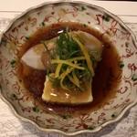 韻松亭 - カモの治部煮、里芋、えび芋、生麩