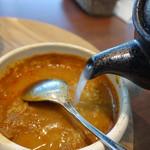 エムズ・ダイニング - 〆は白湯スープでスープカレー風に