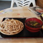 100464873 - 肉もりうどんの合盛り、冷麺(750円)