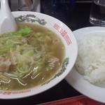 大珉 - 料理写真:本日の定食(チャンポン麺、ライス)