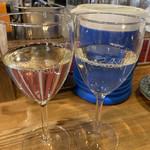 立呑み「最」 - グラスにお店の名前♡