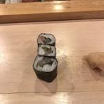 鮨 ゆき正 - 鯛紫蘇細巻!