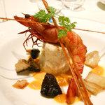 10047660 - 赤足海老と魚介のスフォルマート