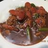 ポエム - 料理写真:カレーライス(ウインナーとアスパラガス)・サラダセット