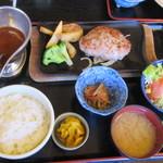 いろり庭 - 安曇野産豚肉ハンバーグ 定食